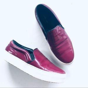CELINE $770 Skate Slip-On Leather Sneaker